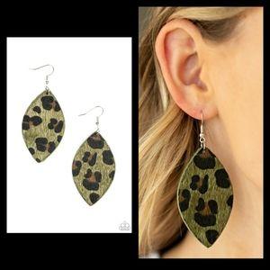 COPY - GRRR-irl Power Cheeta Print Earrings